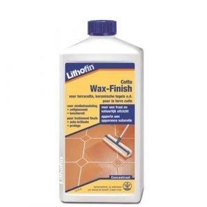 Lithofin cotto-Wax-finish is bedoeld als eindbehandeling van nieuwe vloeren van terracotta en kleiplavuizen.