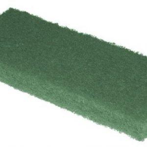 Deze groene pad is bedoeld voor het verwijderen van hardnekkige vlekken in uw geoliede houten vloer.