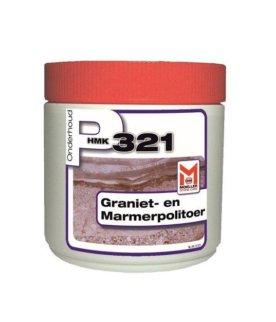 HMK P321 graniet- en marmerpolitoer - pasta 0,5L. Verzorging voor gepolijst natuursteen of marmercomposiet.-0