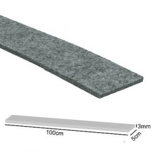 vilstrook/viltstrip grijs 5cm