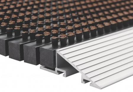 borstelmat Outline zwart 40x60-481