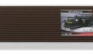 borstelmat Outline donker bruin 40x60-0