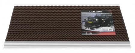 borstelmat Oultline donkerbruin 50x80-0