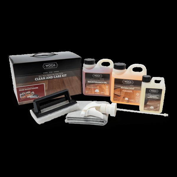 Woca onderhoudsbox voor houten vloeren - wit-0