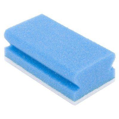 spons met handgreep en wit schuurpad