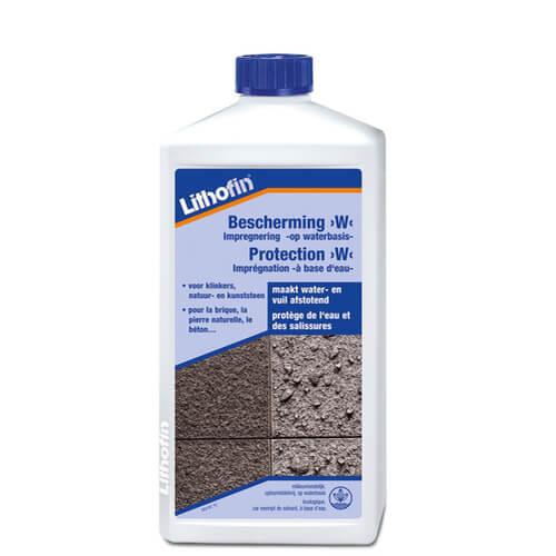Lithofin bescherming W is een milieuvriendelijk impregneermiddel voor het behandelen van poreuze steenoppervlakken
