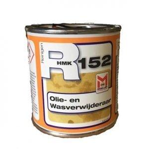 HMK R152 Olie- en wasverwijderaar is een actieve reinigingspasta. Het product verwijdert olie-, was- en vetvlekken uit oppervlakken van natuur- en kunststeen, keramiek, beton, cementondervloeren en minerale stuclagen. R152 verwijdert ook randvervuiling bi