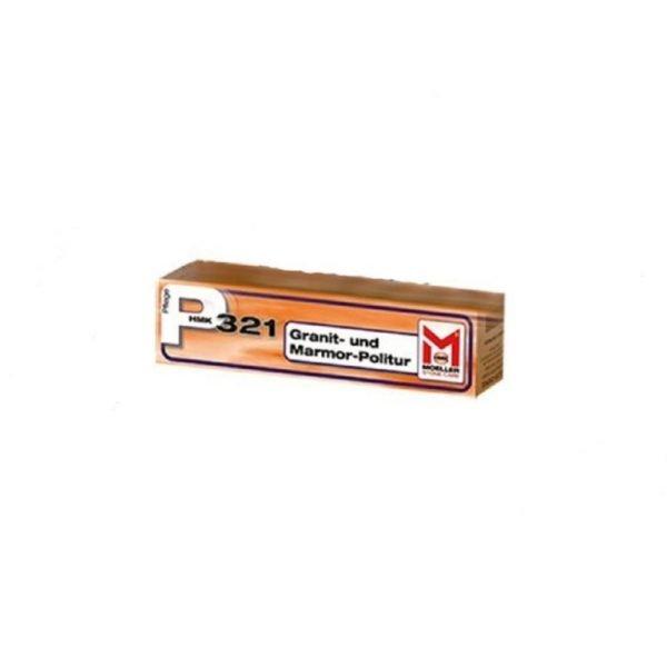 HMK P321 graniet- en marmerpolitoer - pasta 0,1L, tube. Verzorging voor gepolijst natuursteen of marmercomposiet.