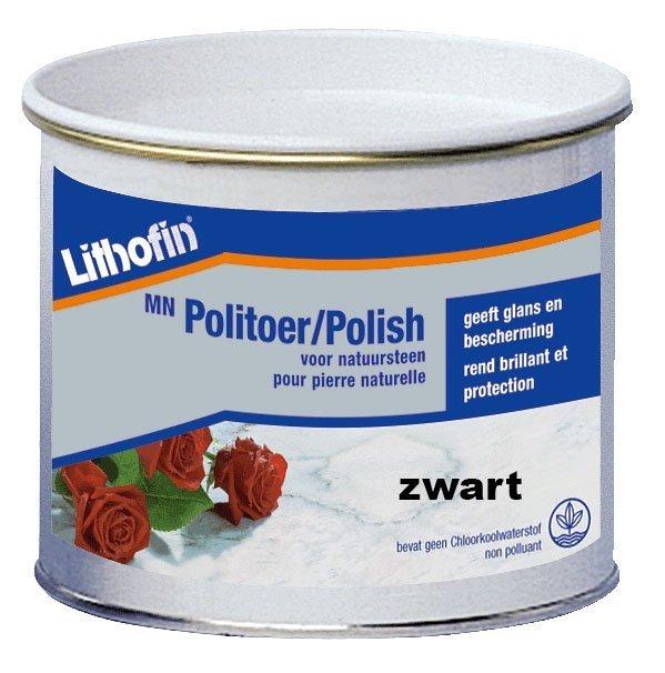 Lithofin MN politoer creme ZWART 0,5L-0
