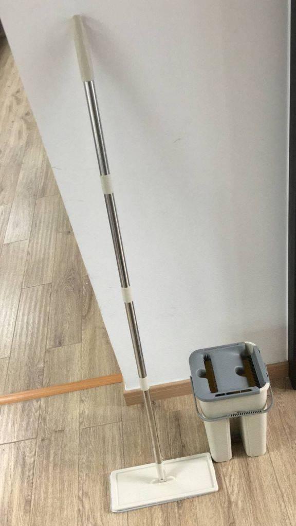 Met deze easy flat mop dweil je gemakkelijk je vloer.