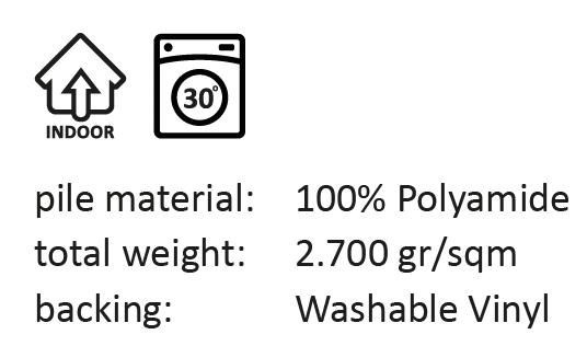deurmat Stige - roest 50x75-817