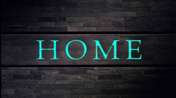 """Deurmat """"glow in the dark"""" Home -852"""