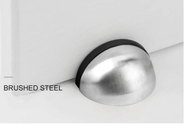 deurstopper half rond brushed steel-1052